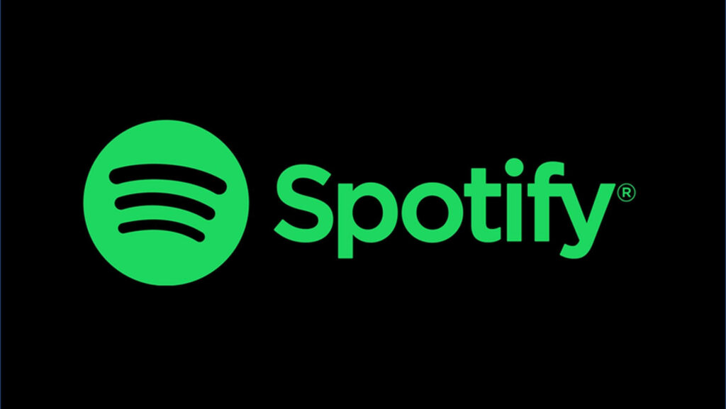 Spotify Logo Green on Black Background