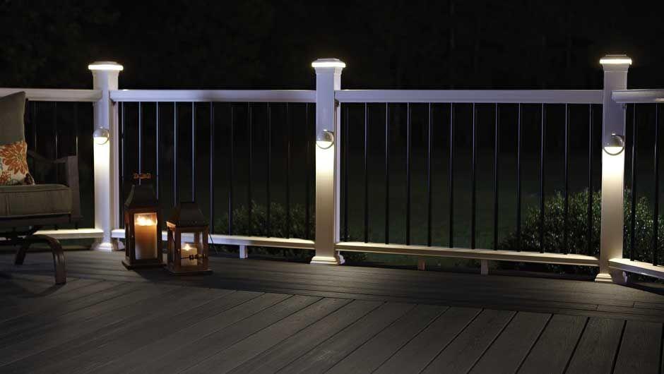 lighting-horizon-railing-sancutary-earl-grey & LED Deck Lights   Decking Rail Lights Fiberon azcodes.com