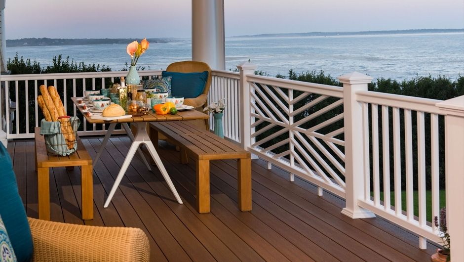 Decking ideas deck photo gallery fiberon for Fiberon ipe decking prices