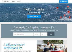 Google Fiber Atlanta page