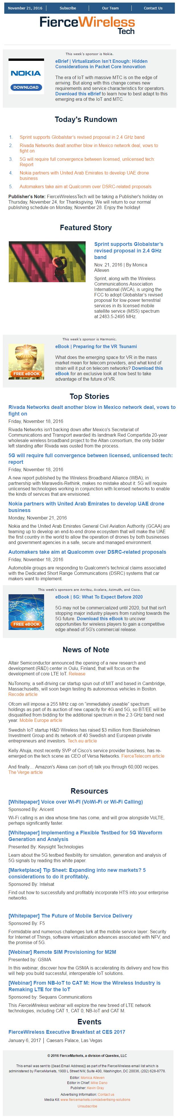 fiercewireless tech newsletter sample pdf download