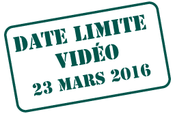 Video Deadline March 6, 2015
