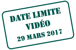 Video Deadline March 29, 2017
