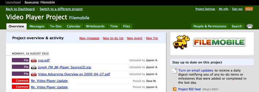 Basecamp   New Spark Media Platform Developer Documentation
