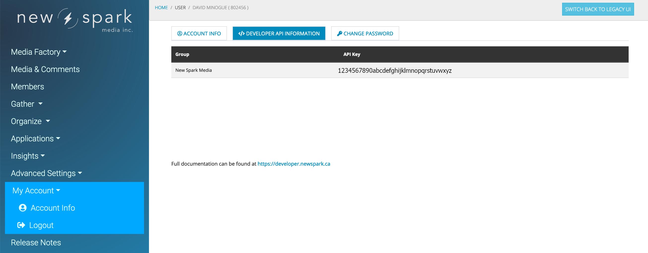 API KEY Screenshot