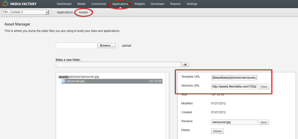 Assets | New Spark Media Platform Developer Documentation Portal