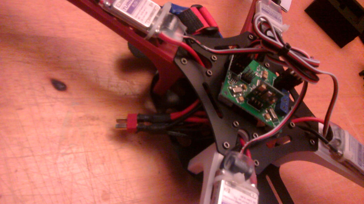 My First Quadcopter Build Q450 Glass Fiber From Hk Flite Test Diy Printed Circuit Boards Rcexplorer Side Note Something I Like To Do With Kk Board Am Pretty Rough On Stuff And Kept Noticing Tricopter That Was Constantly Bending The