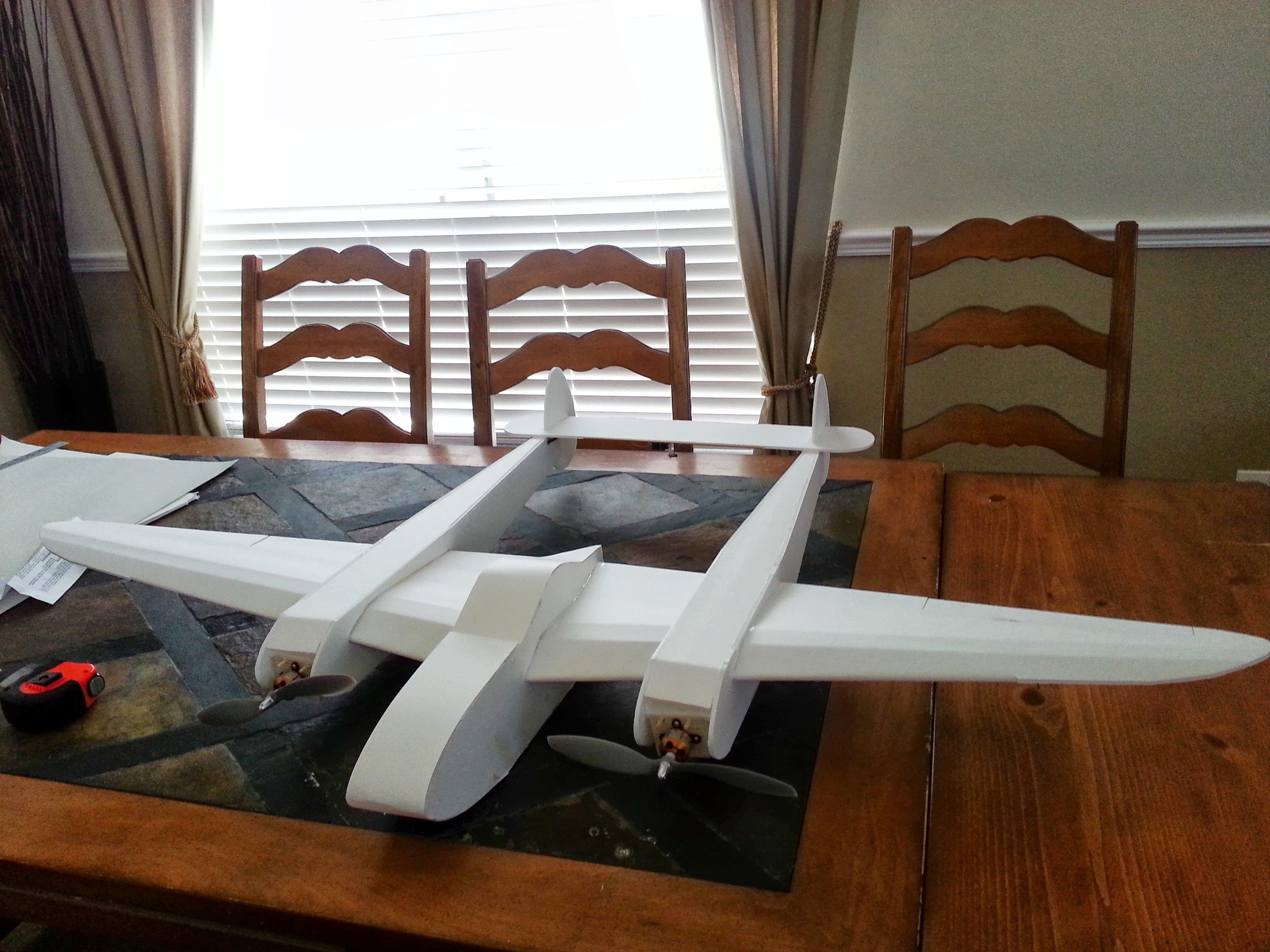 P 38 Foamy Plans