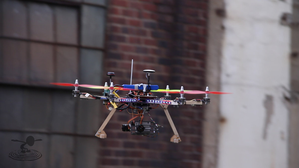 bat bone flite test david built this hexicopter the anycopter hub and customized it the rctimer 2 axis brushless gimbal for gopro you ll be seeing more about this