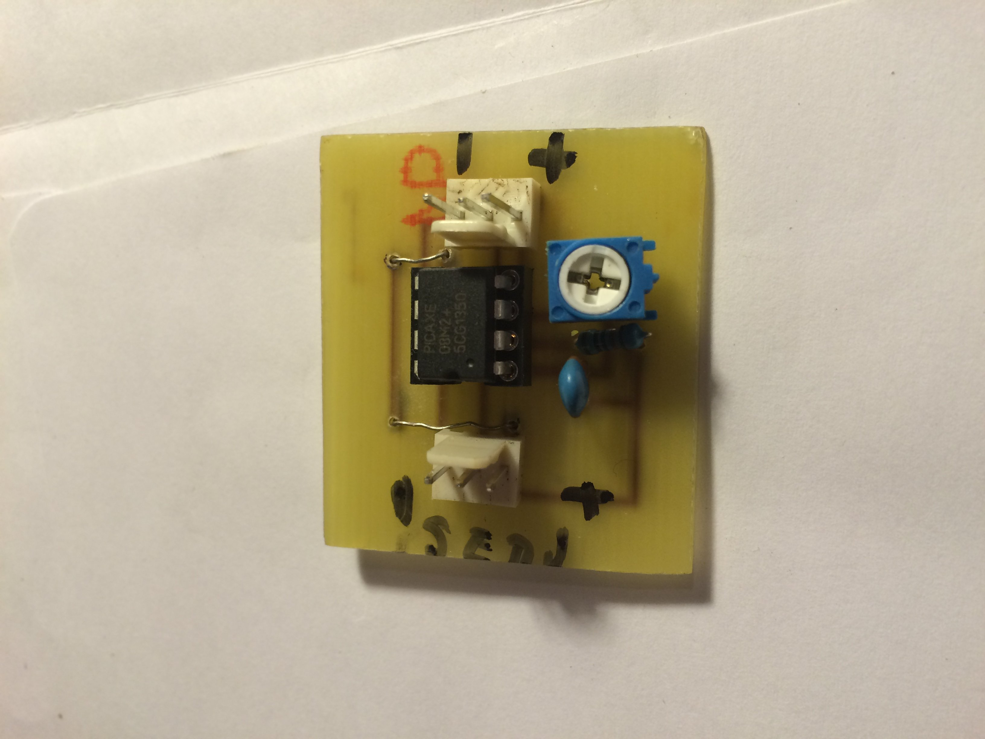 Diy Navigation Lights And Servo Speed Control Flite Test Here Is The Circuit Schematic For Demonstration Board A Picture Of Completed It Weighs 9 Grams