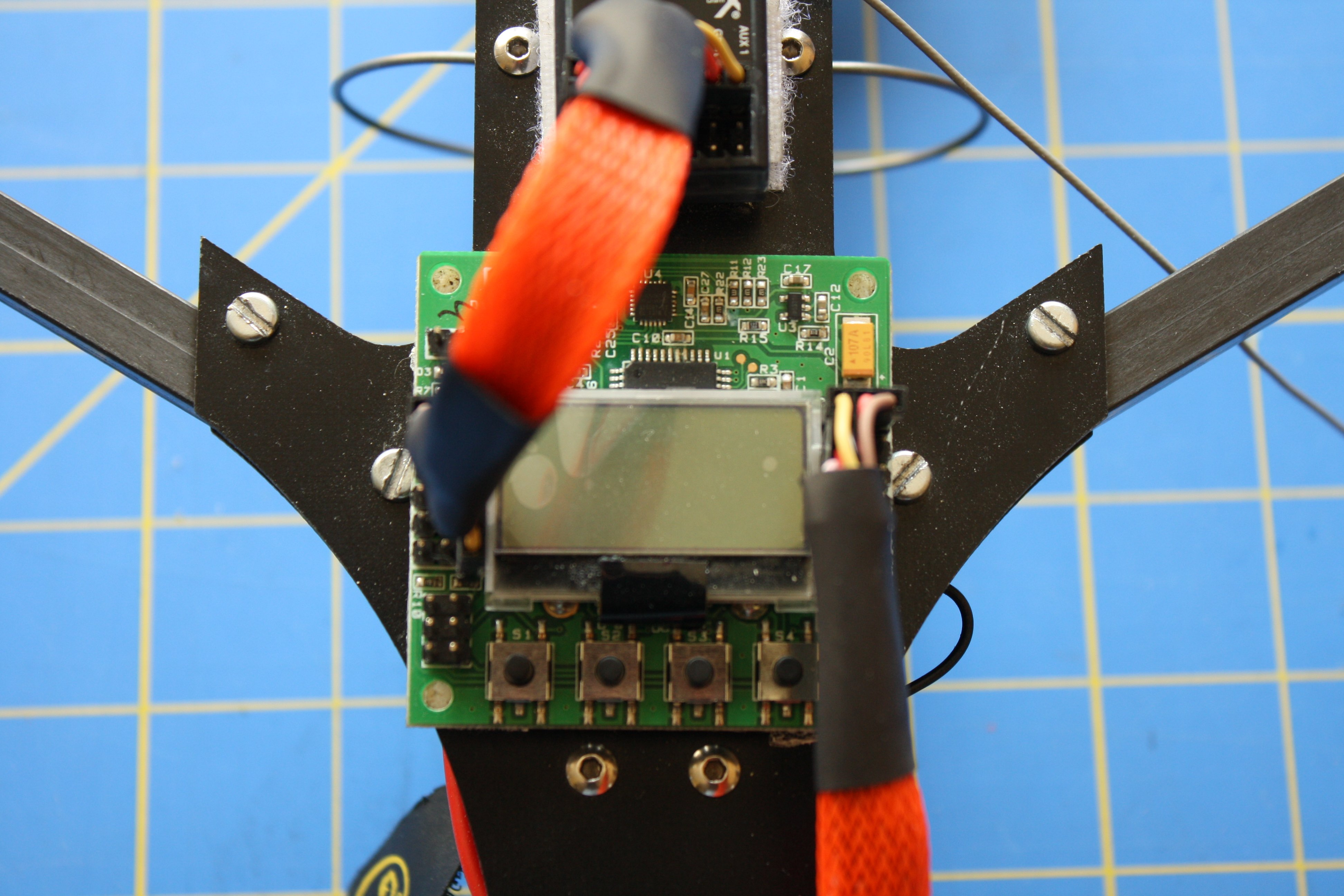 Version 2 Of The Tricopter V26hv Flite Test Orangerx Kk2 Wiring Diagram Board I Flashed It With Stevies Firmware Which Is Tons Better Than Stock Comes