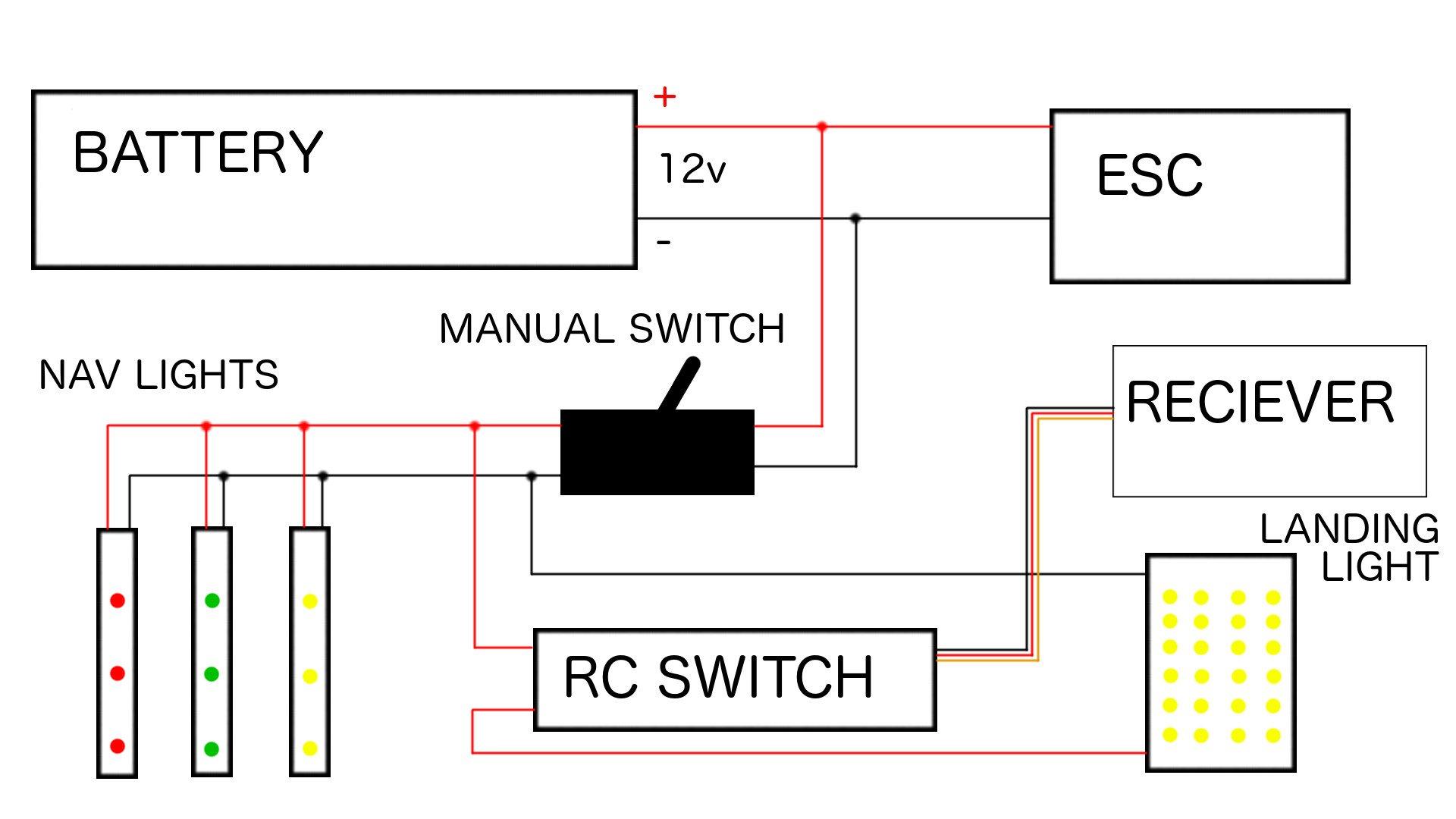 Landing light wiring diagram wiring diagram winter swappables part 2 landing lights flite test grimes landing light wiring diagram landing light wiring diagram cheapraybanclubmaster Choice Image