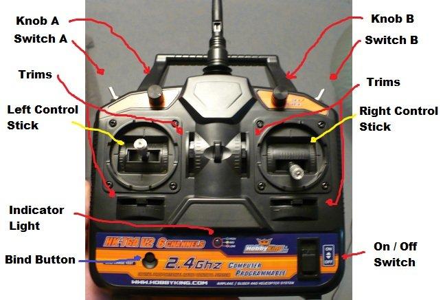 Hobby King 2 4Ghz 6Ch Tx V2 Overview   Flite Test