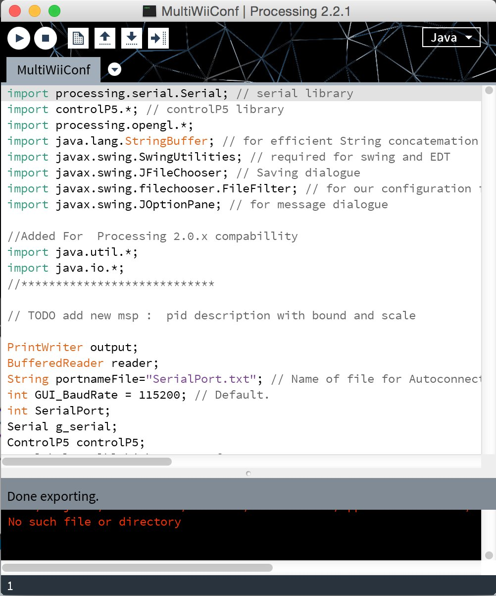 Compiling MultiWiiConf on MacOS X | Flite Test