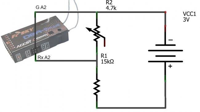 build a frsky telemetry voltage sensor flite test. Black Bedroom Furniture Sets. Home Design Ideas