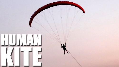 Human Kite | Paramotoring Tow Winch Training Poster Image