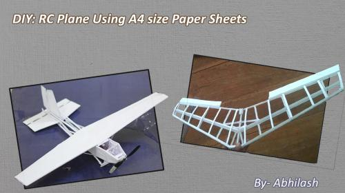 rc plane made of a4 size paper sheets flite test. Black Bedroom Furniture Sets. Home Design Ideas