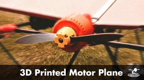 3D Printed Brushless Motor on an RC Airplane Image