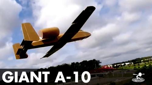 Building a Huge A-10 from Foam Image