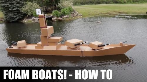 How to Make Boats from Foam Board Poster Image