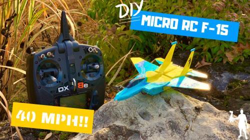 DIY Ultra Micro Prop Slot F-15 (FREE PLANS) Poster Image