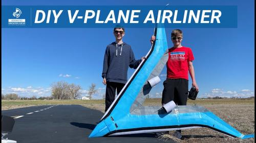 The V-Plane Airliner Poster Image