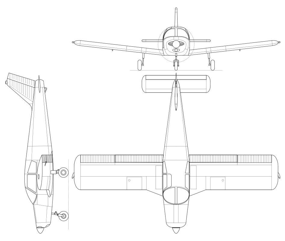 Scratch Built Piper Archer II   Flite Test