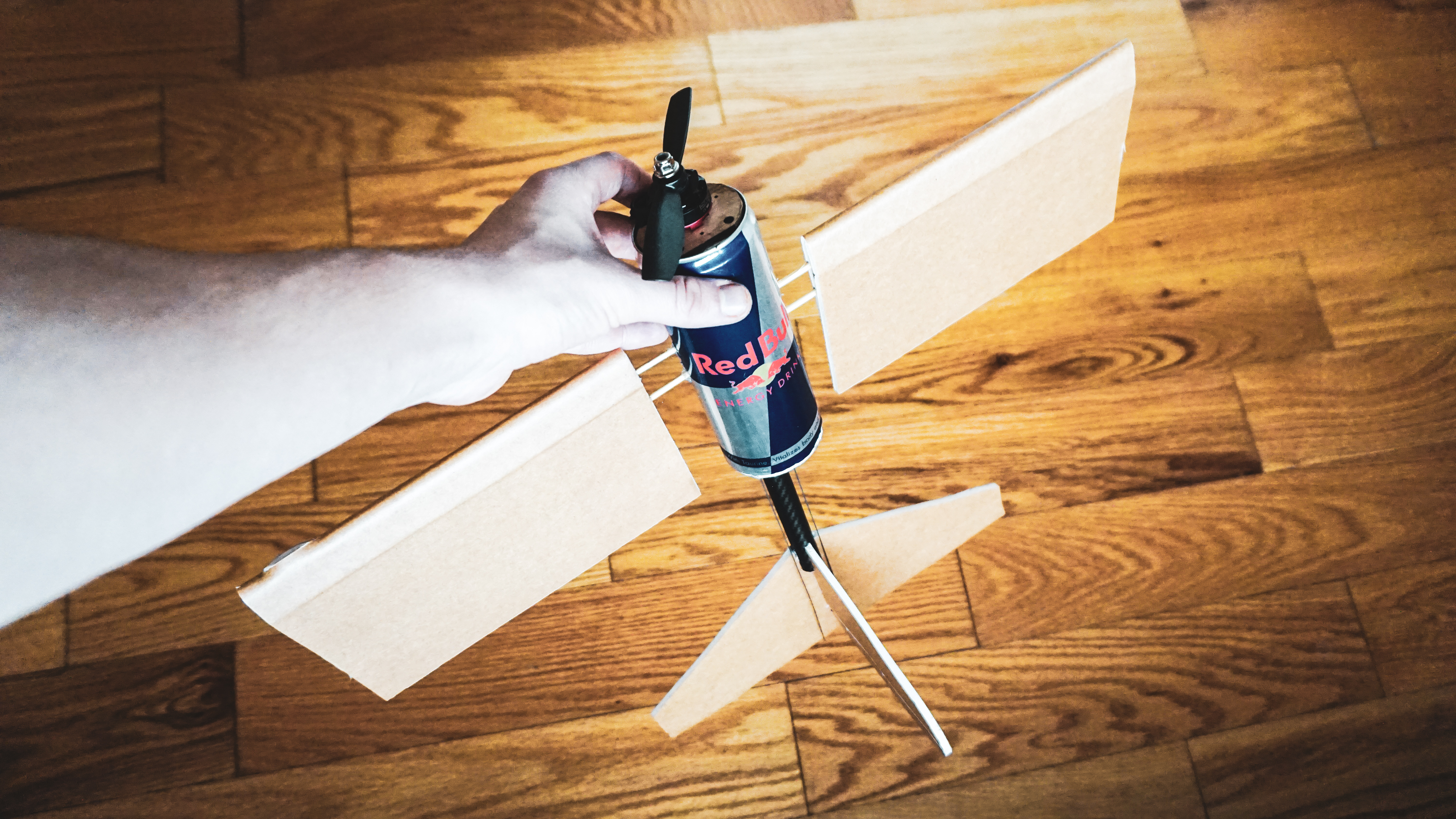 How To Make an RC Airplane from a Red Bull | Flite Test
