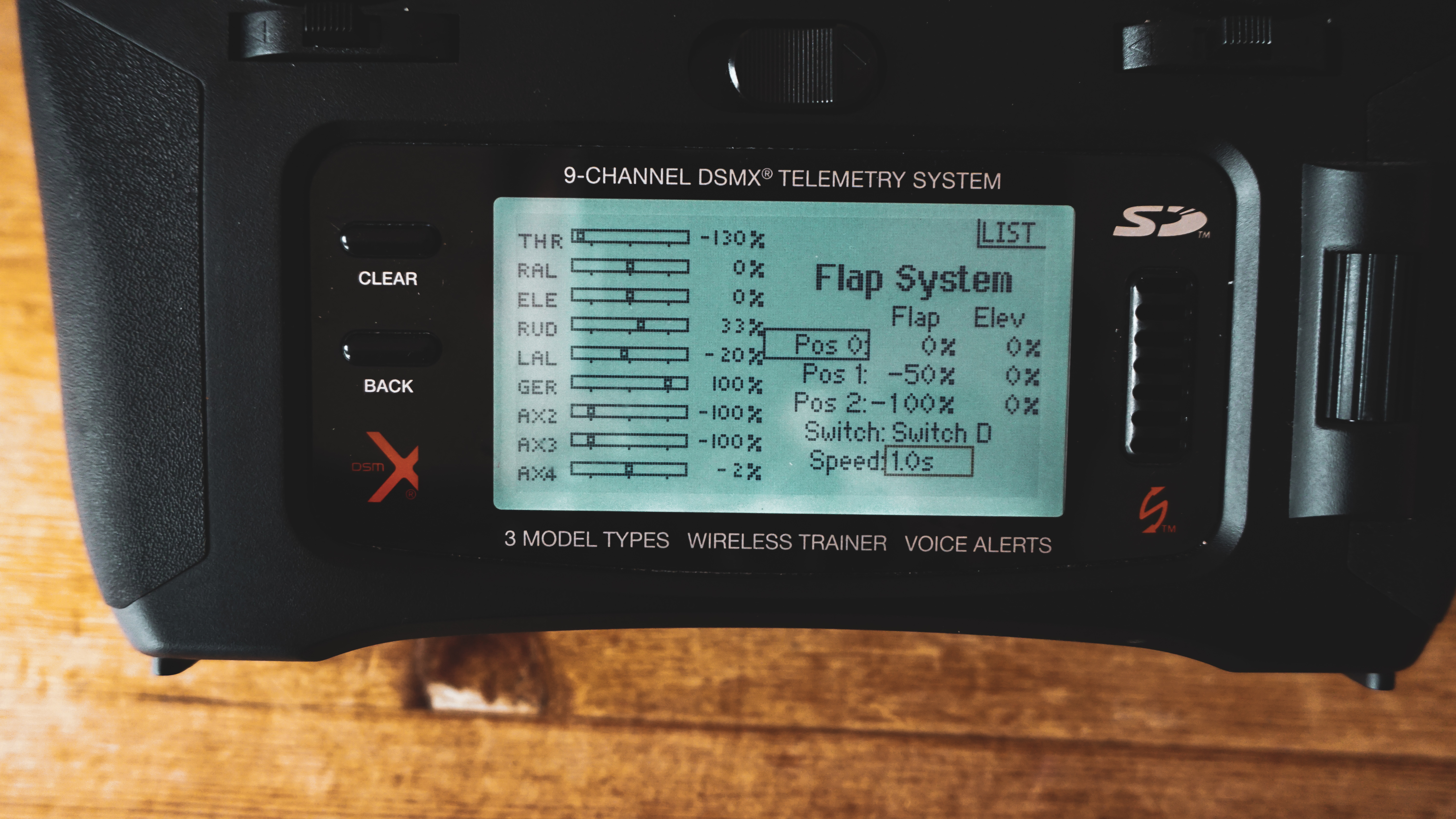 28e4150dbec0e You can adjust throws of the flaps by changing the numbers referring to  each position of the switch. You can also change the speed of the flap  movement.