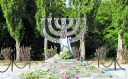 A menorah sits at the site of Babi Yar today.