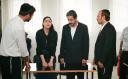 Ronit Elkabetz as Viviane in pleading her case in rabbincal court in 'Gett.'