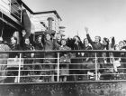 The first Kindertransport arrives in Harwich, England.