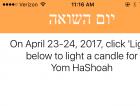 Yom Hashoah Candle App