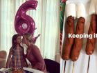 Arabella celebrates her 6th birthday with an unusual Filipino dish: hot dog-and-marshmallow skewers.
