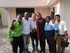 In Haiti with staff and volunteers from Kouraj earlier this year.