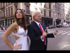 Israeli actress Mira Tzur impersonates Melania Trump