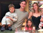 The Kushers at home celebrating Hanukkah.