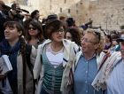 Wall Fight : Women wear prayer shawls at the Western Wall in Jerusalem. Despite the compromise plan proposed for the holy site, confrontations are likely to continue for now.