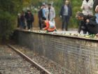 Somber Milestone: Mourners lay flowers at the site of Berlin?s rail line that took Jews to death camps on the 70th anniversary of the deportations.