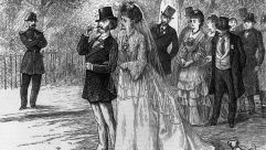 A wedding in nineteenth century France.