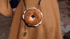 India Menuez's Chanel bagel purse.