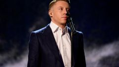 Recording artist Macklemore performs onstage during the 2015 American Music Awards at Microsoft Theater on November 22, 2015 in Los Angeles, California.