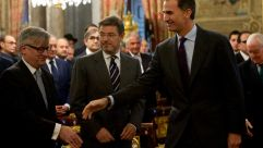 Spain's King Felipe attended a ceremony in 2015 granting citizenship to Sephardic Jews.