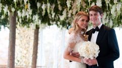 Ivanka Trump and Jared Kushner at their wedding.