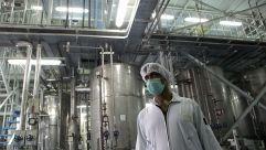 An Iranian technician works at the Isfahan Uranium Conversion Facilities.