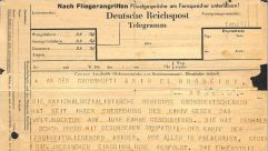 Telegram from Heinrich Himmler to Grand Mufti of Jerusalem, 1943.
