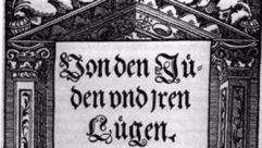 """The frontispiece for Martin Luther's book """"On The Jews And Their Lies."""""""