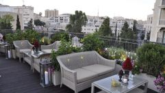 Waldorf-Astoria of Jerusalem's kosher rooftop tapas bar.