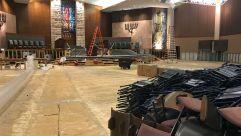 Houston synagogue after Hurricane Harvey.