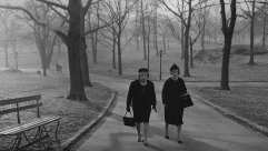 Diane Arbus photograph of two women walking in Central Park.